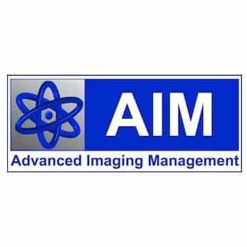 aim advanced imaging management logo design
