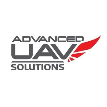 advanced uav solutions logo design