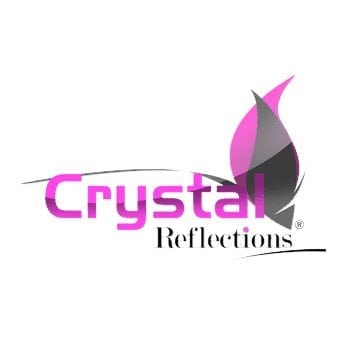crystal reflections logo design