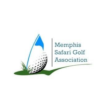 memphis safari golf logo design