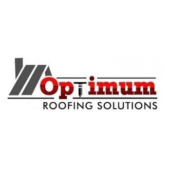 optimum roofing solutions logo design