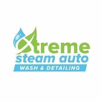 xtreme steam auto logo design