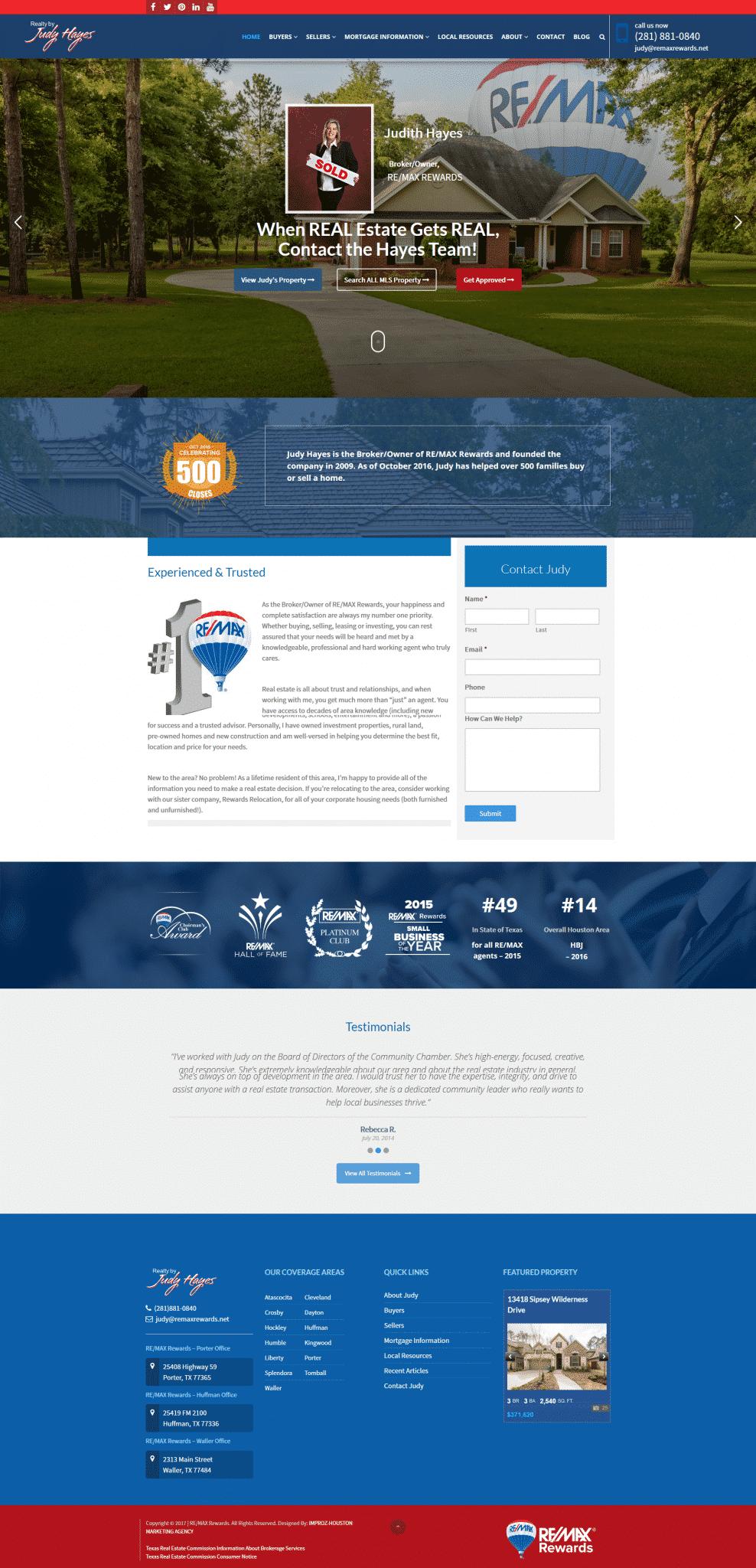 Website Design Portfolio in Houston - IMPROZ MARKETING