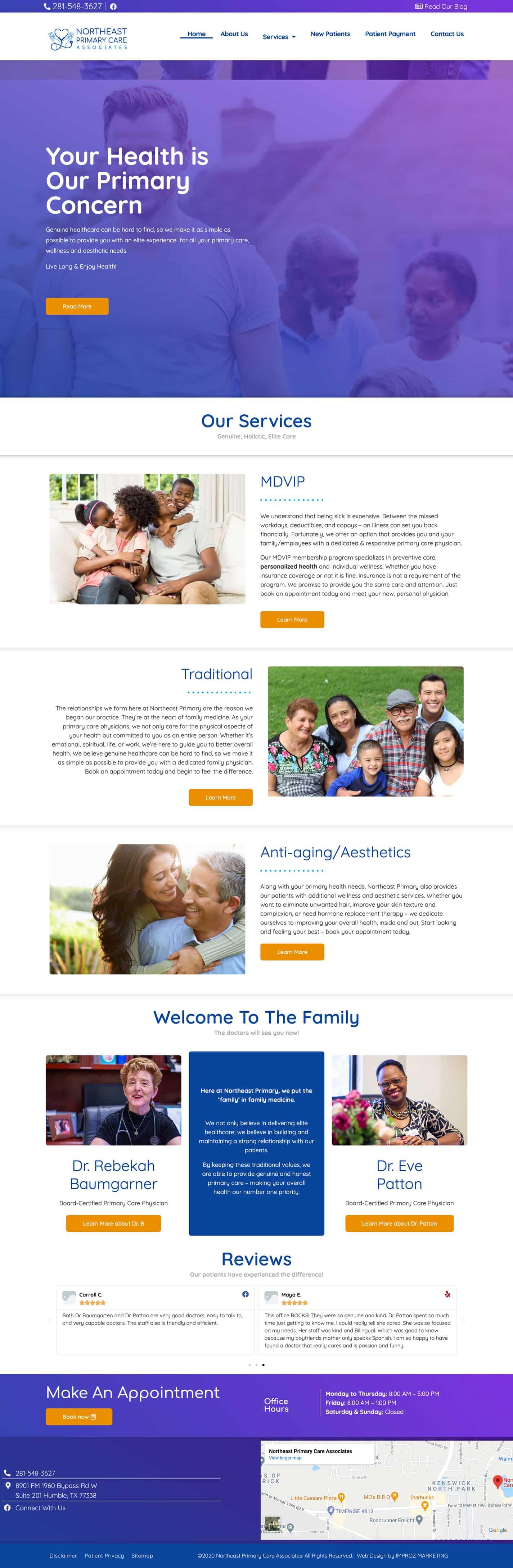 NE-primary-care-website-design-portfolio-IMPROZ-Marketing