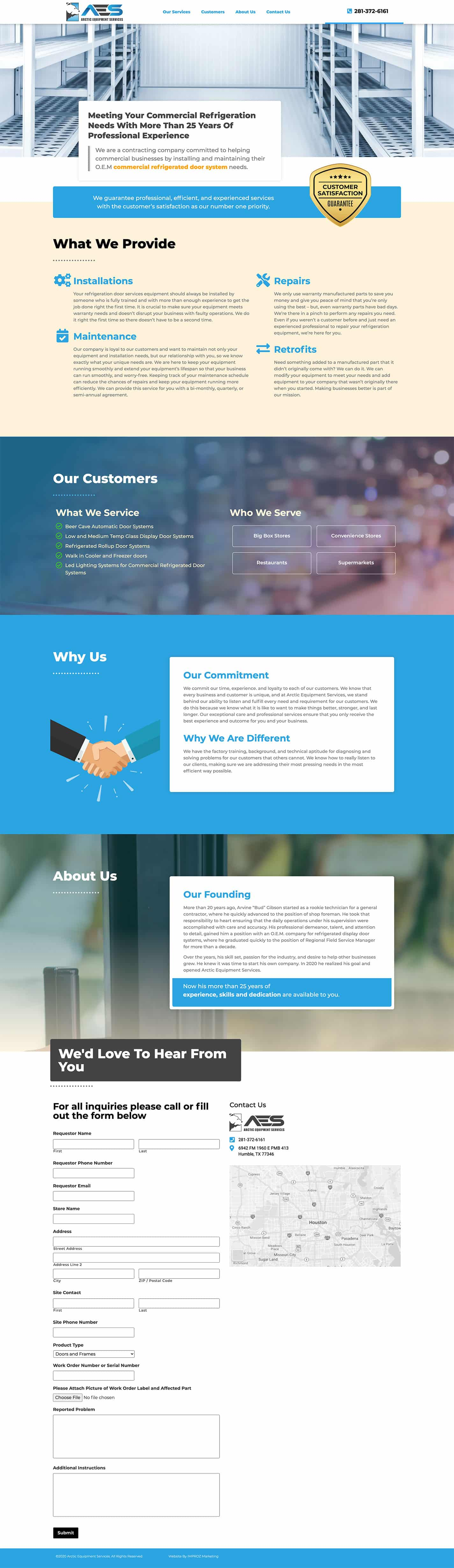 This website design job was create for our client at Arctic Equipment Services Recruit.